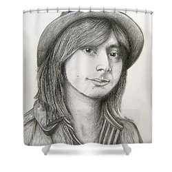 Steve Perry Shower Curtain by Patrice Torrillo
