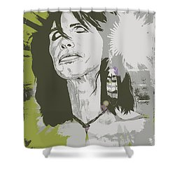 Steven Tyler  Shower Curtain by Jeepee Aero