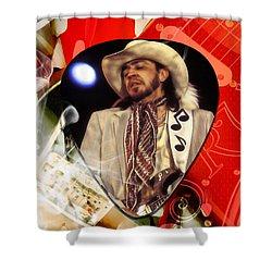 Stevie Ray Vaughan Art Shower Curtain by Marvin Blaine