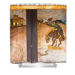 Shower Curtain featuring the photograph Street Art - Melba, Id by Dart and Suze Humeston