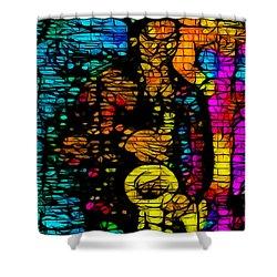 Street Jazz Shower Curtain