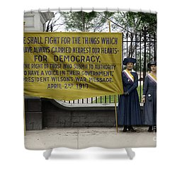 Shower Curtain featuring the photograph Suffragettes, 1917 by Granger