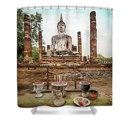 Shower Curtain featuring the photograph Sukhothai Buddha by Adrian Evans