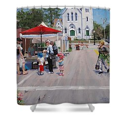 Summer In Hingham Three Shower Curtain