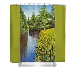 Summer Landscape, Painting Shower Curtain by Irina Afonskaya