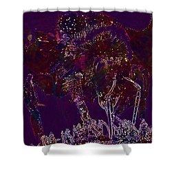 Shower Curtain featuring the digital art Sun Flower Hummel Insect Summer  by PixBreak Art