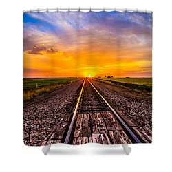 Sun Tracks Shower Curtain