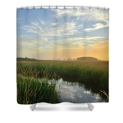 Sunrise At Glacial Park Shower Curtain