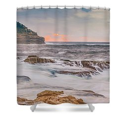 Sunrise Seascape And Headland Shower Curtain