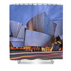 Sunset At The Walt Disney Concert Hall In Downtown Los Angeles. Shower Curtain