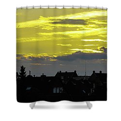 Sunset In Koln Shower Curtain by Cesar Vieira