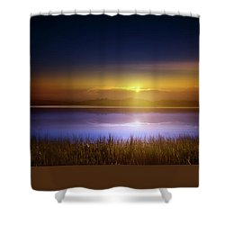 Sunset In The Glades Shower Curtain by Mark Andrew Thomas
