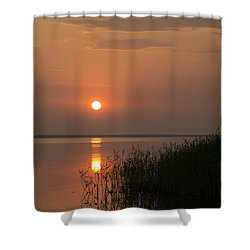 Shower Curtain featuring the photograph Sunset  by Inge Riis McDonald