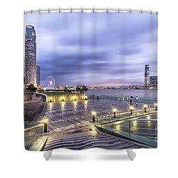 Sunset Over Hong Kong Shower Curtain