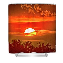 Sunset Shower Curtain by Pravine Chester