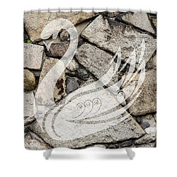 Swan Art Shower Curtain by Marvin Blaine