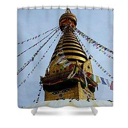 Swayambhunath Shower Curtain