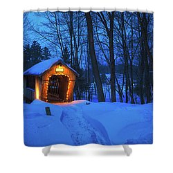 Tannery Hill Bridge Shower Curtain