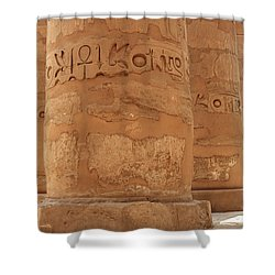 Shower Curtain featuring the photograph Temple Of Karnak by Silvia Bruno