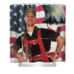 Texas Hero Shower Curtain