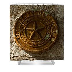 Texas State Seal Shower Curtain by Michael Flood