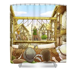 The Army Of God Captures London Shower Curtain