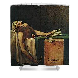 The Death Of Marat  Shower Curtain