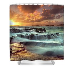 The Golden Hour Shower Curtain by James Roemmling