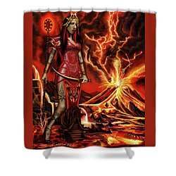 The Goodess Pele Of Hawaii Shower Curtain by James Christopher Hill