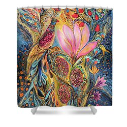 The Grapes Of Holy Land Shower Curtain by Elena Kotliarker