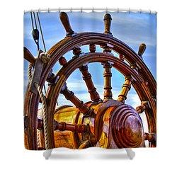 The Helm Shower Curtain by Debra and Dave Vanderlaan