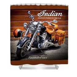 The Indian Motorcycle Shower Curtain