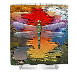 The Legend Of Emperor Dragonfly Shower Curtain by Serge Averbukh