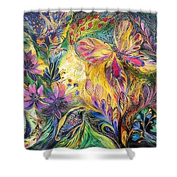The Life Of Butterfly Shower Curtain by Elena Kotliarker
