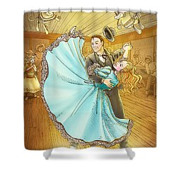 The Magic Dancing Shoes Shower Curtain