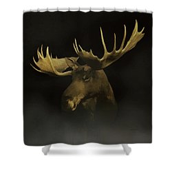 Shower Curtain featuring the digital art The Moose by Ernie Echols