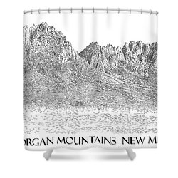 The Organ Mountains Shower Curtain by Jack Pumphrey