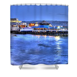 Redondo Landing At Night Shower Curtain by Richard J Cassato