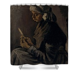 The Potato Peeler, 1885 Shower Curtain