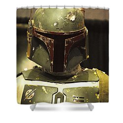 The Real Boba Fett Shower Curtain by Micah May