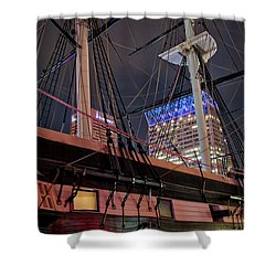 Shower Curtain featuring the photograph The Uss Constellation by Mark Dodd