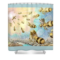 The Vortex Of Time And Space Shower Curtain
