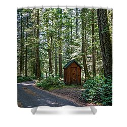 Thickly Wooded Area Shower Curtain