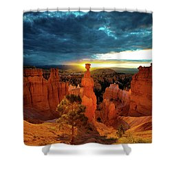 Shower Curtain featuring the photograph Thor's Hammer by Norman Hall