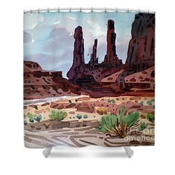 Three Sisters Shower Curtain by Donald Maier