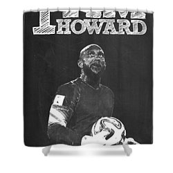 Tim Howard Shower Curtain by Semih Yurdabak