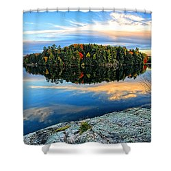 Tranquil Northern Lake Shower Curtain
