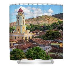 Shower Curtain featuring the photograph Trinidad Cuba Cityscape II by Joan Carroll