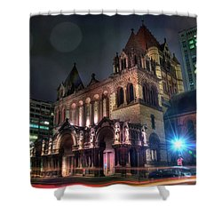 Shower Curtain featuring the photograph Trinity Church - Copley Square Boston by Joann Vitali
