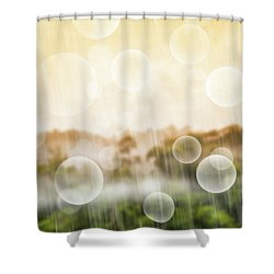 Shower Curtain featuring the photograph Tropical Forest by Atiketta Sangasaeng
